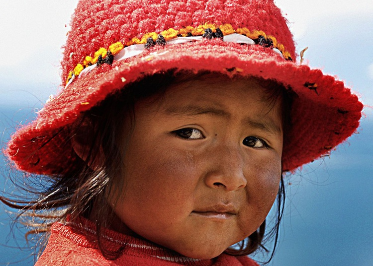 Titicaca Girl in Red - Image 0