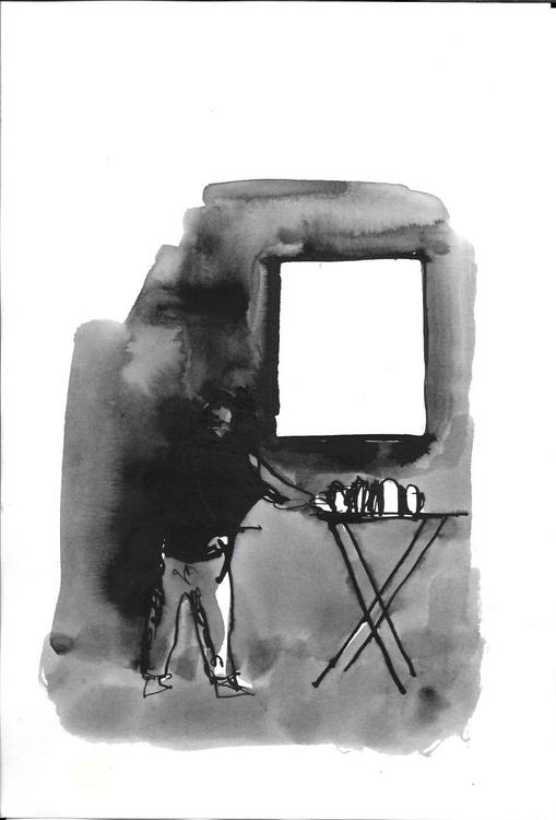 Artist painter, 16x24 cm - Image 0