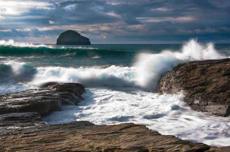 Trebarwith Waves -