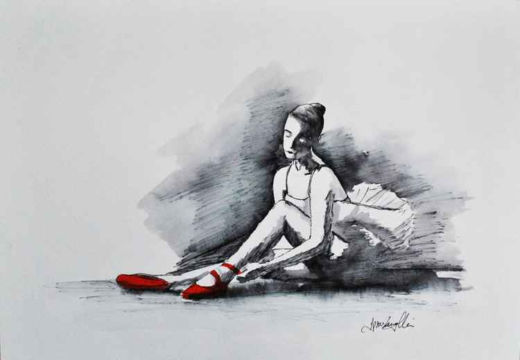 Red Ballet shoes II -