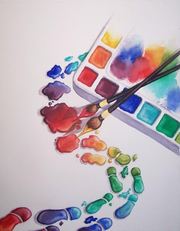 Watercolor Footprints - Image 0