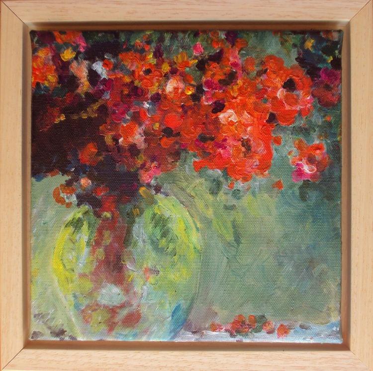 Impressionist Red Flowers - Image 0