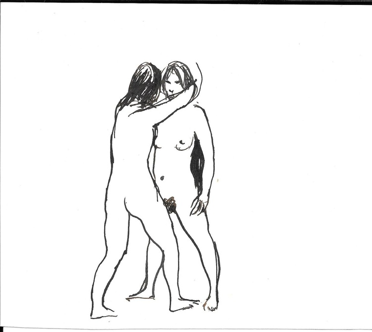 Two Nudes, 16x14 cm - Image 0
