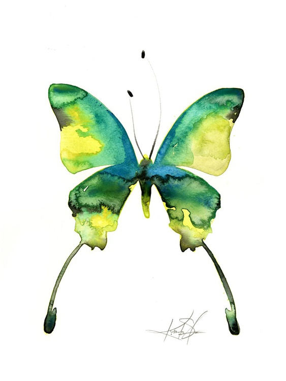 Watercolor Butterfly 5 - Abstract Butterfly Watercolor Painting - Image 0