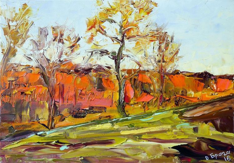 The Last Ray of The Winter Sun (palette knife) - Image 0
