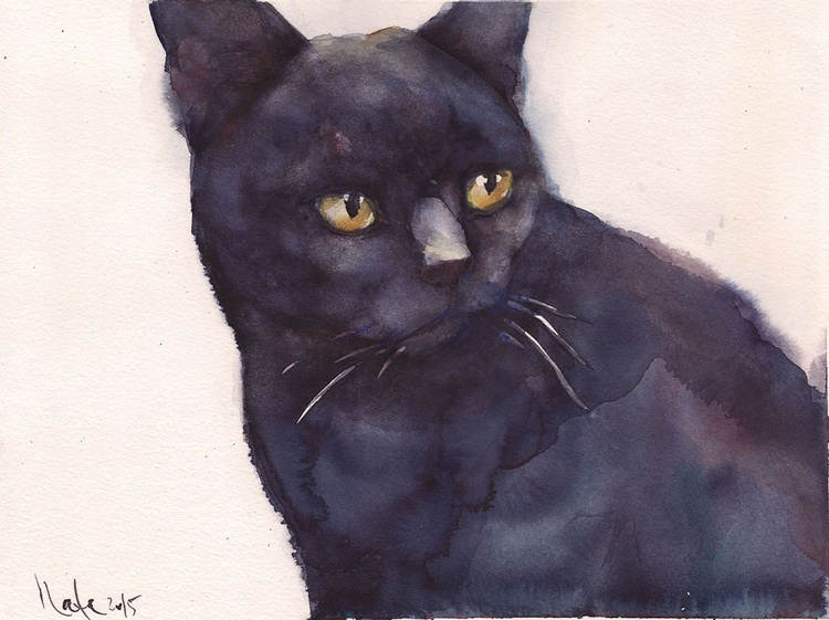 Black Cat  /Framed/ Ready to hang!/ - Image 0