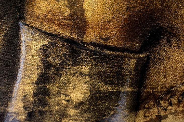 """Black gold"", original painting on canvas 40x50cm - Image 0"