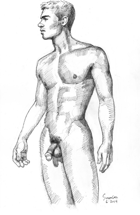 Lean Young Male Nude - Image 0