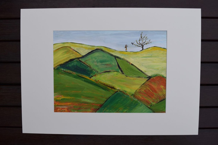 Never Alone - Modern Abstract of hills - Image 0