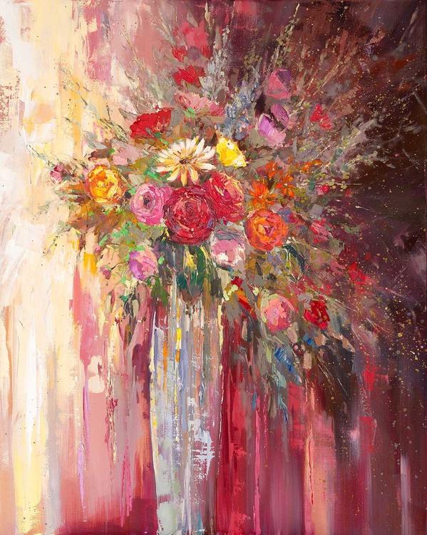 'Summer Flowers in Vase' - Image 0