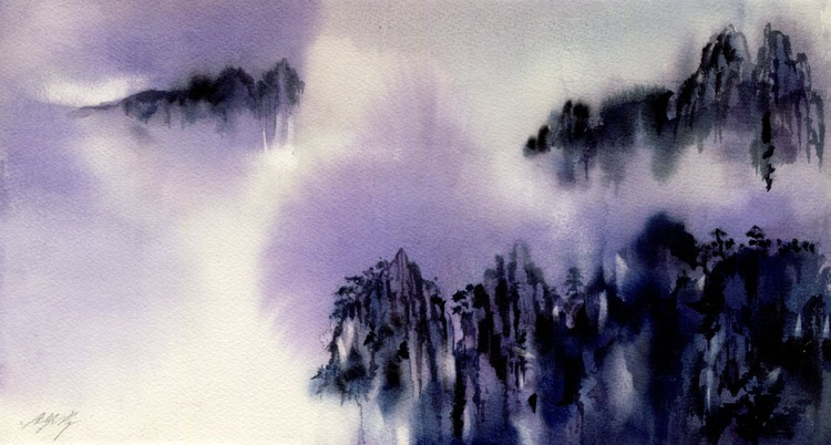 mountain in mist - Image 0