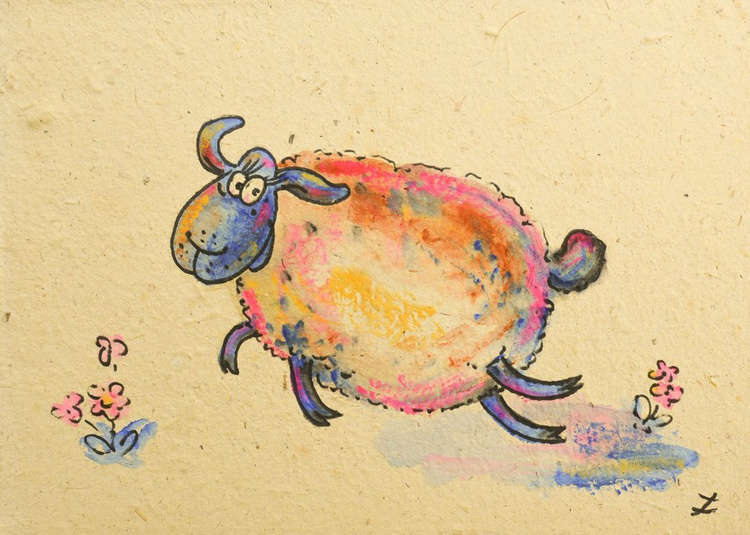 Happy Funny Sheep. Collectible Series - Image 0