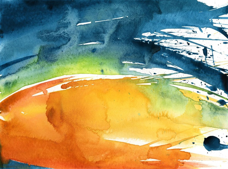 Serenity 14 - Abstract Watercolor Painting by Kathy Morton Stanion - Image 0