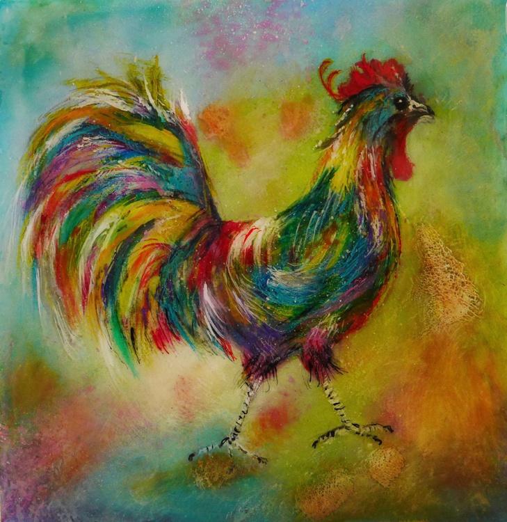Cockerel in colour - Image 0