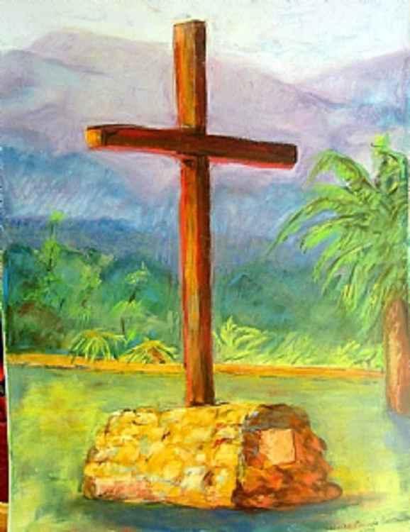 Cross at Santa Barbara Mission, CA -