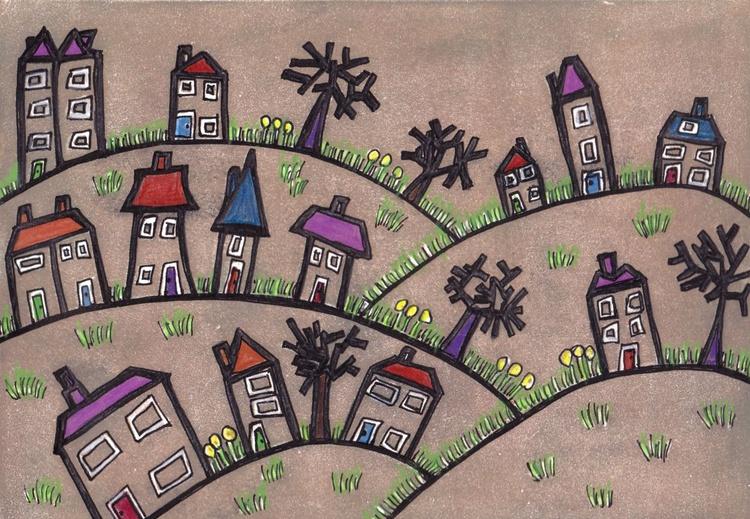 Happy little village - print 3 - Image 0