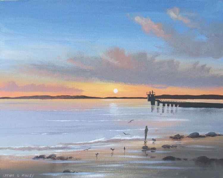 galway bay sunset -