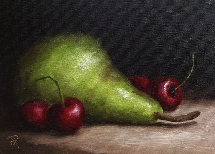 Pear with Cherries - Image 0