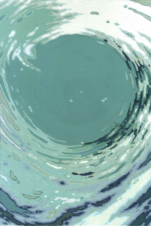 "Spinning Wave 1 & 2 Ocean Organic Painting Series 24 x 36"" Pair of two - Image 0"