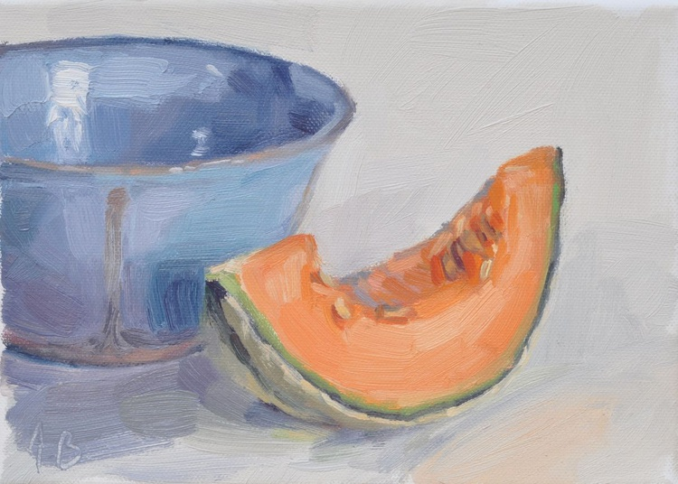 Melon and blue bowl - Image 0