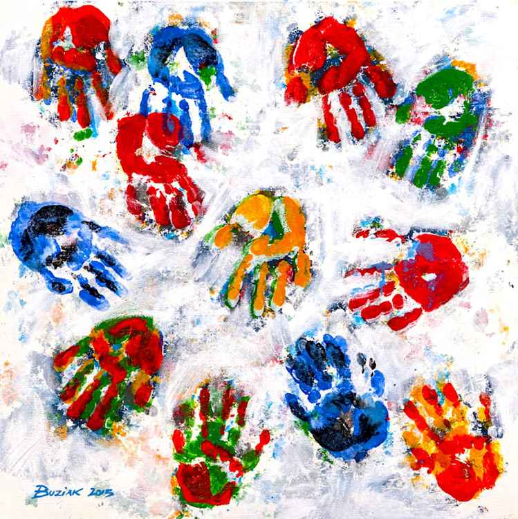 Handprints in the Snow #1 -