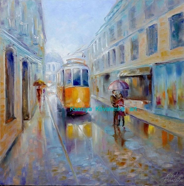 "painting  ""Трамвай желаний"" Oil on canvas 80х80 cm - Image 0"