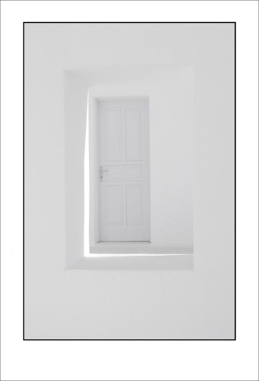 From the Greek Minimalism series: Greek Architectural Detail (White and White) # 6, Santorini, Greece - Image 0