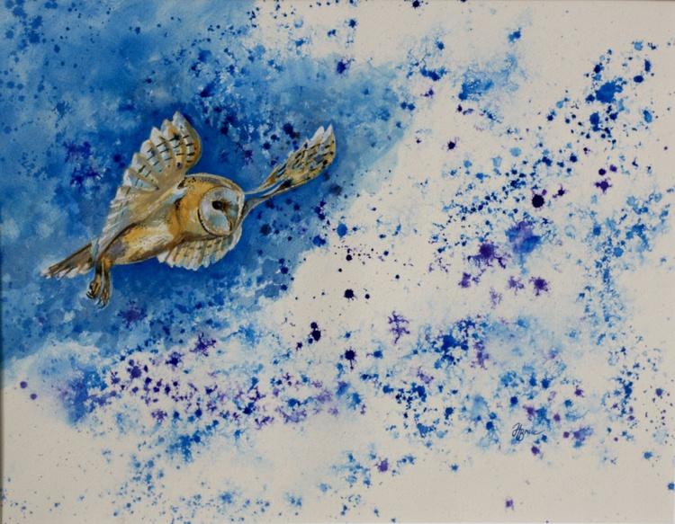 Barn Owl at Night - Image 0