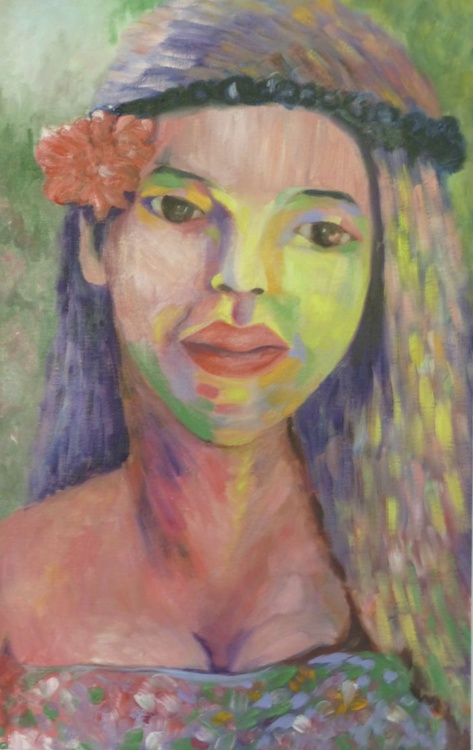 Colourful woman - Image 0