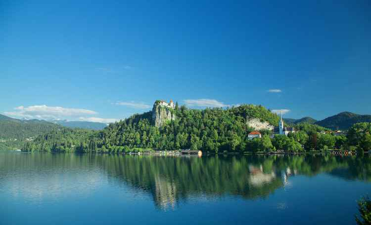 Summer at Lake Bled, Slovenia. -