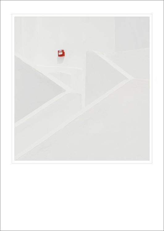 From the Greek Minimalism series: Fire Alarm, Santorini, Greece - Image 0
