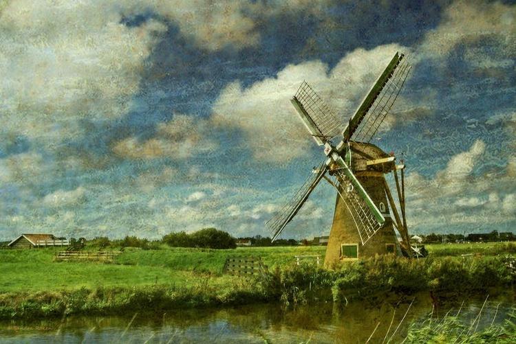 Dutch Mill - Canvas 75 x 50 cm - Image 0