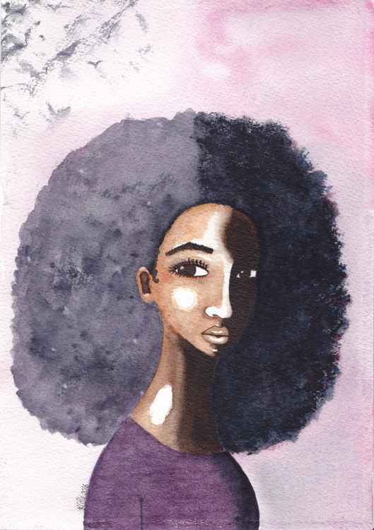 The Shadow Self Original Watercolour Painting