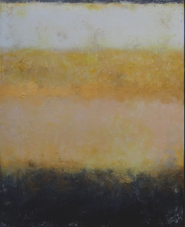 gold in oker (100 x 80 cm) - Image 0