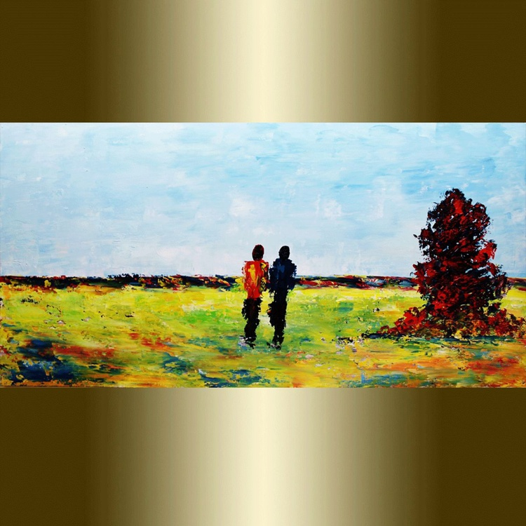 Girl with boy in park. - Image 0