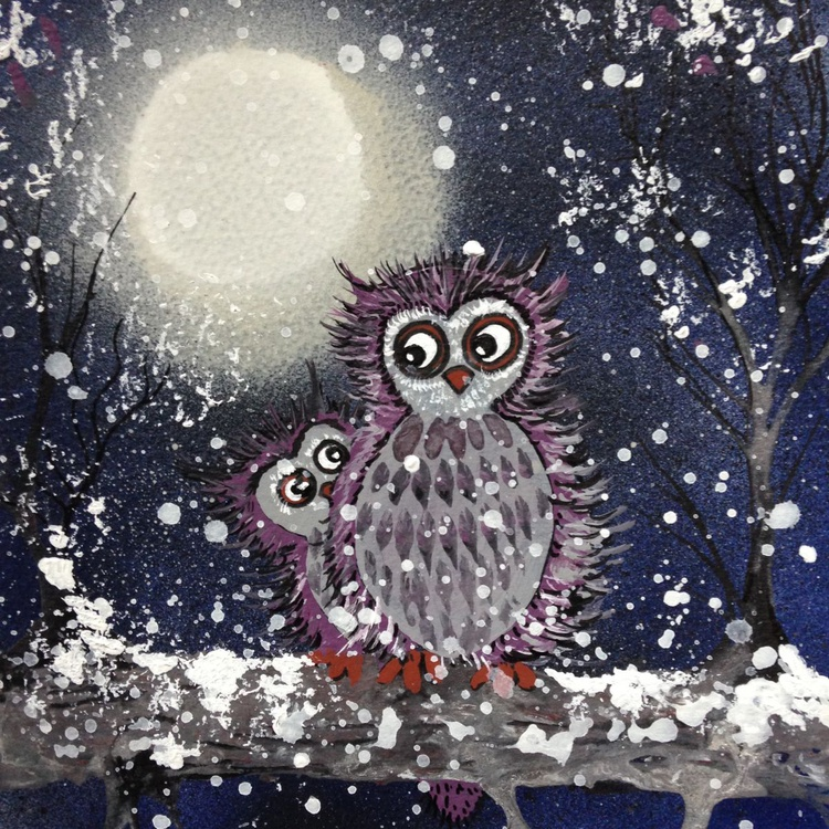 Owls in the snow - Image 0