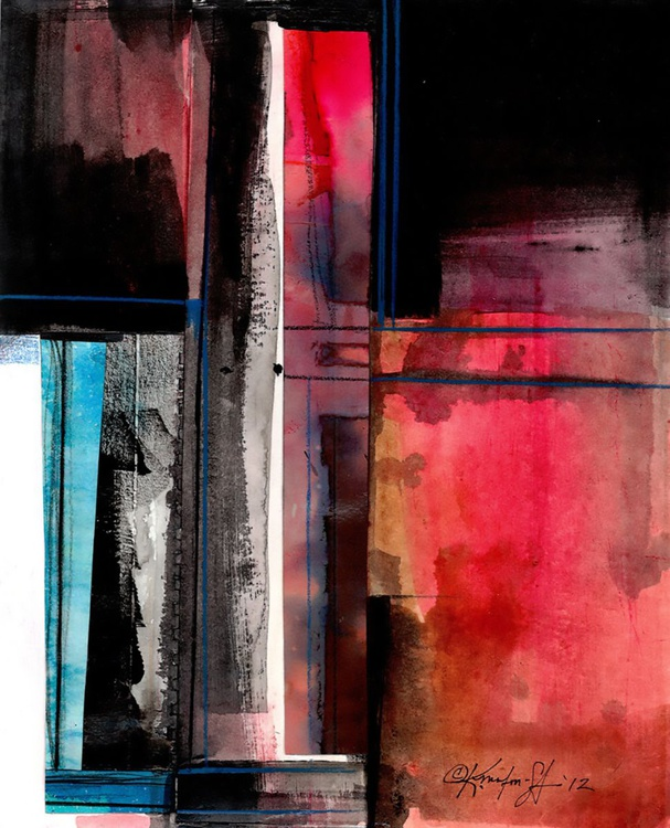 Abstract Stories 1 - Abstract Mixed Media Painting by Kathy Morton Stanion - Image 0