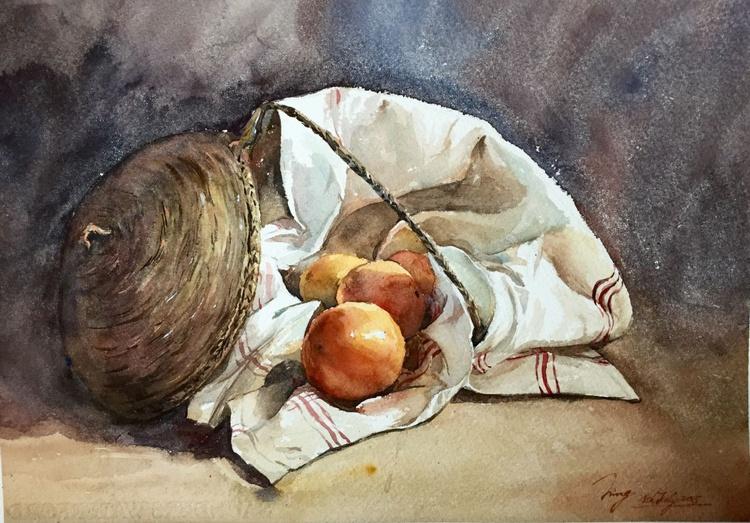 Basket and Oranges - Image 0