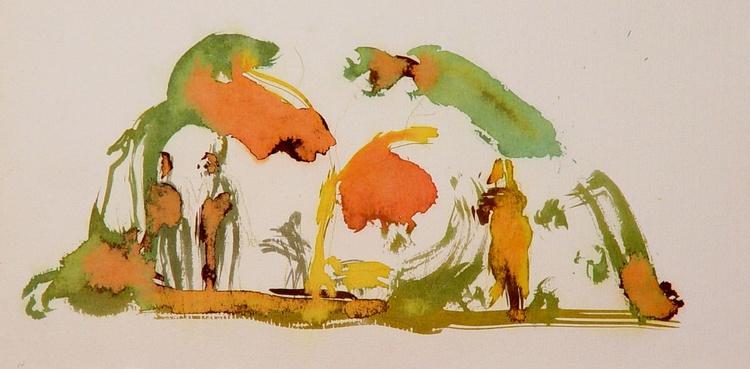 On the Cezanne Island #15, 40x20 cm - Image 0