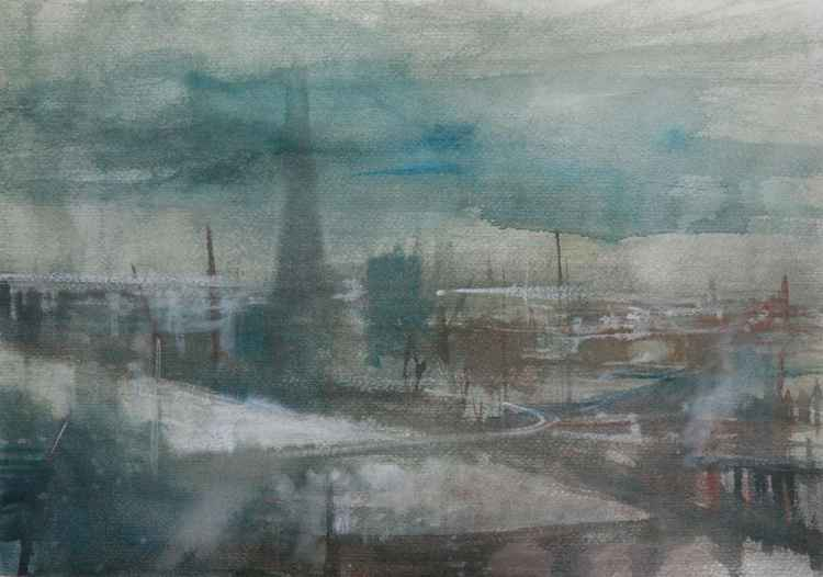 View of London. Watercolour