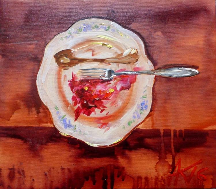 leavings, oil painting 40x35 cm - Image 0