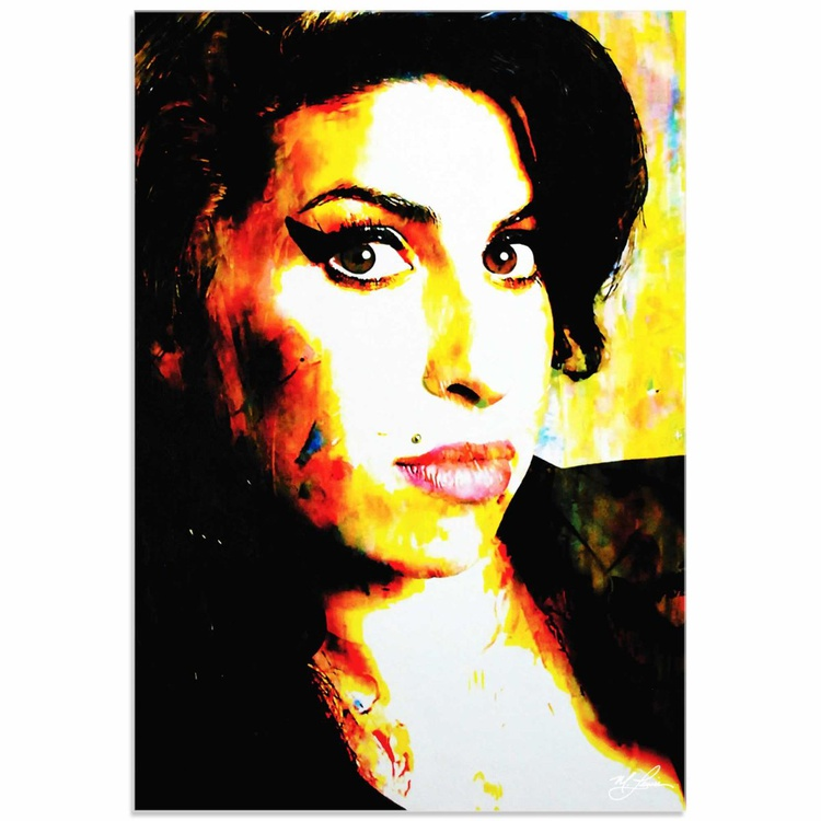 Mark Lewis 'Amy Winehouse A School of Thought' Limited Edition Pop Art Print on Acrylic - Image 0