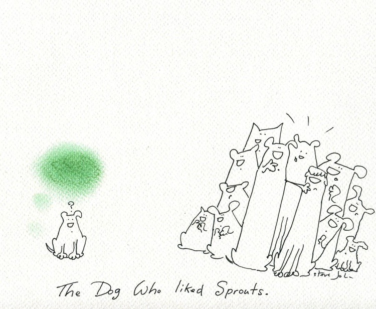 The Dog who liked Sprouts. Cartoon Artwork - Image 0
