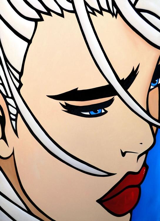 Betrayed - Original Abstract painting Modern pop portrait Art by Fidostudio - Image 0
