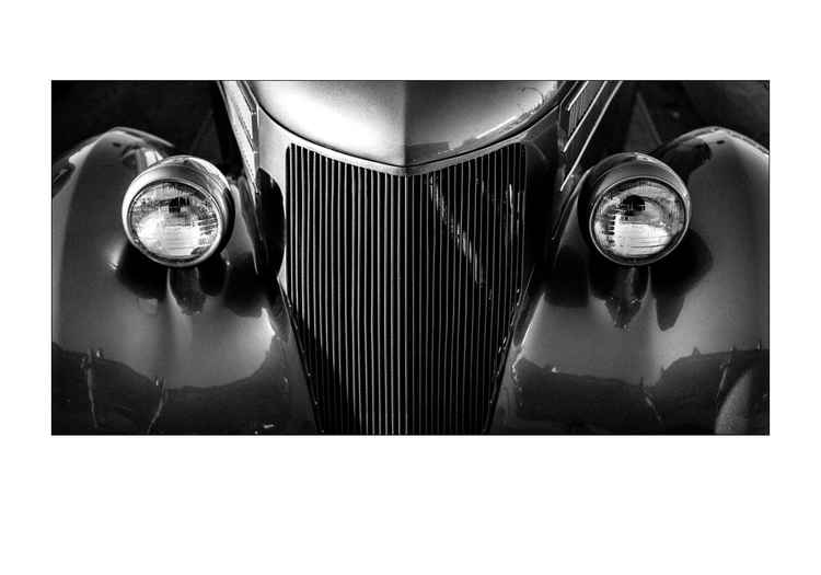 Vintage Auto in Monochrome -