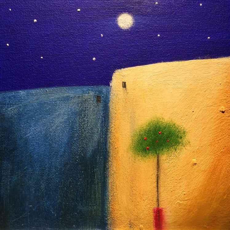 """"""" Mediterranean midnight """" ( miniature size)"""