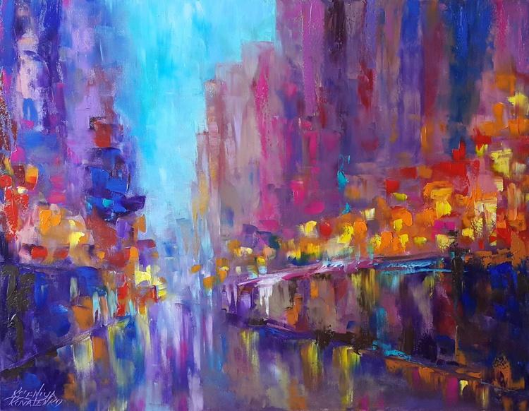 painting * Night Rendezvous*Oil on canvas 90х70 cm - Image 0