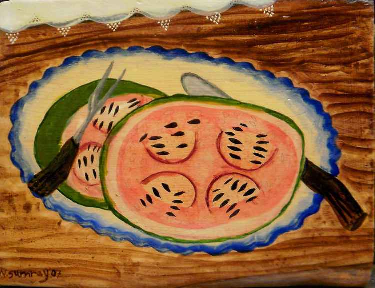 """Still Life with Watermelon"""