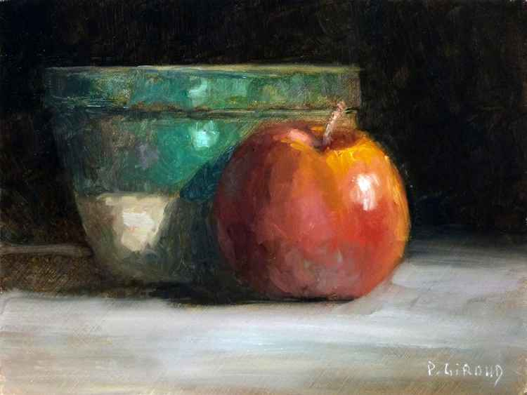 Apple and a Green Pot