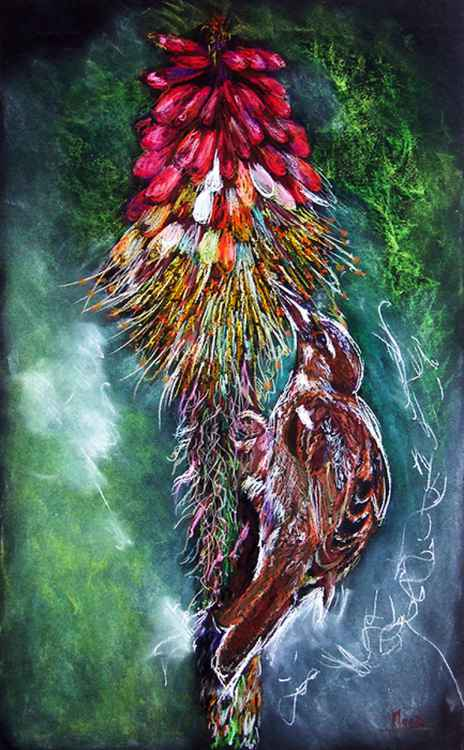 The bird/ Pastel -